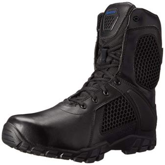 Bates Men's Shock 8-Inch Waterproof Strike Side Zip Tactical Boots
