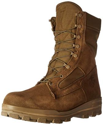 Bates Men's USMC Wolverine Warrior Leather Boots With DuraShocks