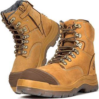 ROCKROOSTER AK232 FORT Work Boots for Men with Steel Toecap