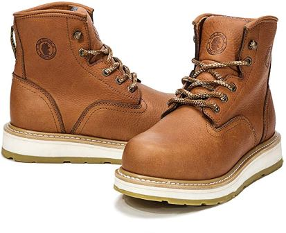 ROCKROOSTER AP615 ROBERTA Work Boots for Men with Soft Plain Toecap