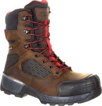 ROCKY Men's Treadflex Waterproof 8″ Work Boot (Rkk0240)