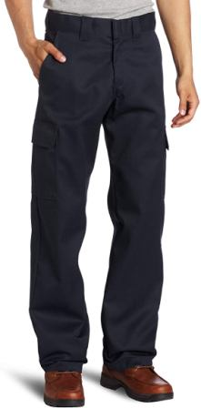 Dickies Relaxed Fit Straight Leg Cargo Work Pants For Men