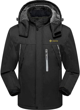 GEMYSE Men's Mountain Waterproof Ski Jacket