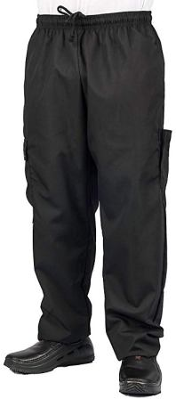 KNG Black Cargo Chef's Pants