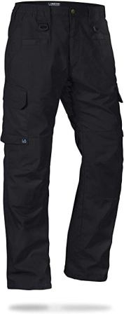 LA Police Gear Men's Operator Tactical Pants with Elastic Waistband