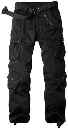 Fseason-Men Multi-Pockets Cotton Straight Big and Tall Workwear Ranger Pant
