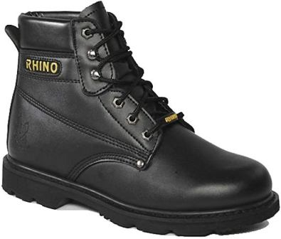 Rhino 60S21 6 Inch Steel Toe Safety Work Boot – Black