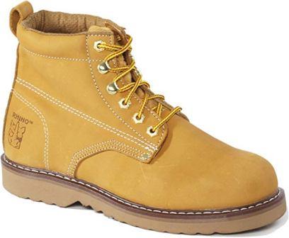 Rhino 61M26 6 inch Plain Toe Leather Work Boot – Tan