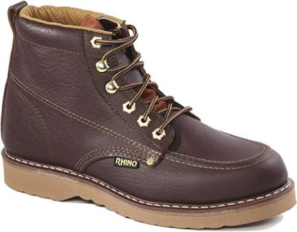 Rhino 62M28 6 inch Moc Toe Work Boot – Brown