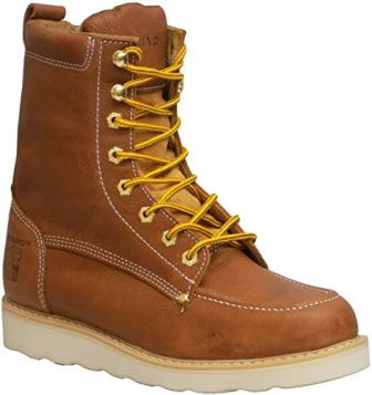 Rhino Men's 82T06 8″ Leather Work Boot (9.5, Butternut)