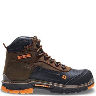 WOLVERINE Men's Overpass 6″ Composite Toe Waterproof Work Boot