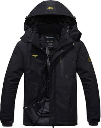 Wantod Men's Mountain Waterproof Jacket