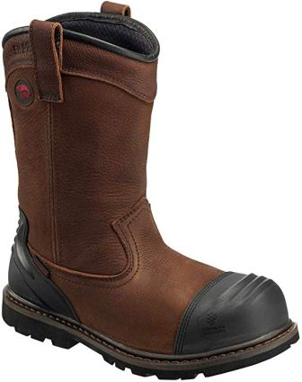 "AVENGER 11"" LEATHER NANOFIBER COMP TOE WELLINGTON BOOT"