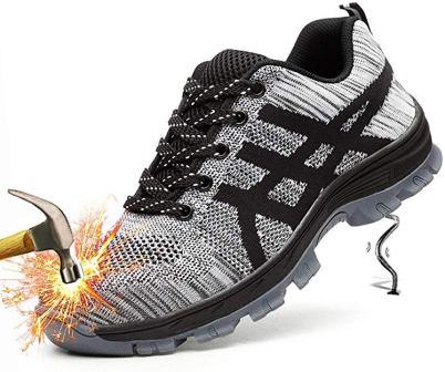 Showcai Unisex Steel Toe Work Shoes