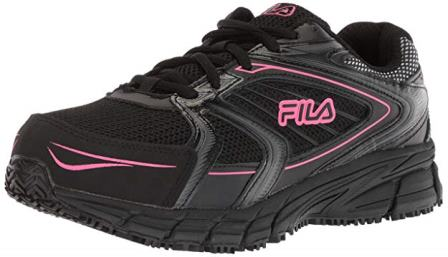Fila Women's Slip Resistant and Memory Reckoning 8 Steel Toe Running Shoes
