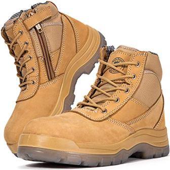 ROCKROOSTER AK050 Men's Steel Toe Work Boots
