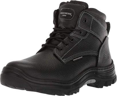 Skechers Men's Tarlac Steel Toe Work Boot – Black