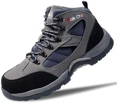 Walkchic Men's Leather Steel Toe Work Boots