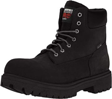 Timberland PRO Men's 26038 Direct Attach 6″ Steel Toe Boot, Black