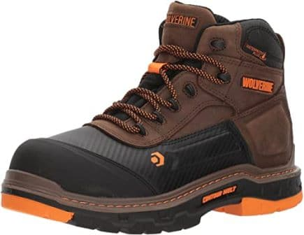 "Wolverine Men's Overpass 6"" Composite Toe Work Boot"