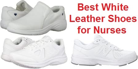 White Leather Shoes for Nurses
