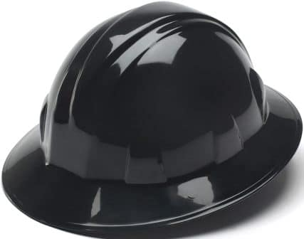 Pyramex Black Full Brim Hard Hat