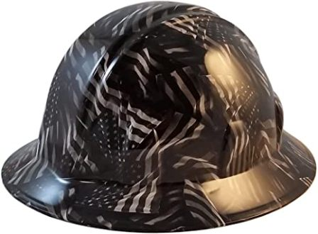 Texas America Safety Company Covert USA Flag Hydro-Dipped Full Brim Hard Hat
