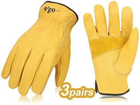 Vgo Leather Work Gloves