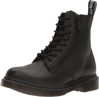 Dr. Martens Comfortable Women's Black Work Boots with Air-Cushioned Sole
