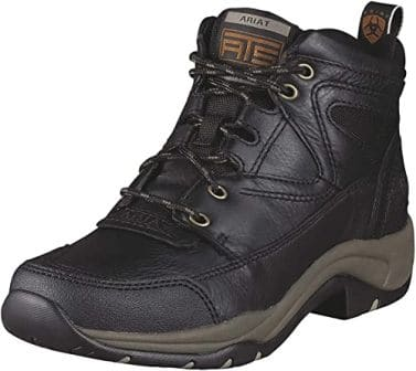 RIAT Black Work Boots for Women with Duratred Outsole