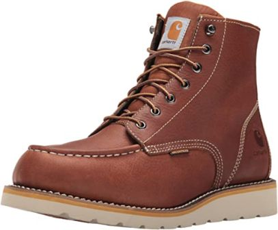 "CARHARTT 6"" WATERPROOF WEDGE SOFT TOE WORK BOOT"