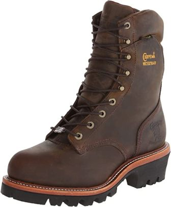 CHIPPEWA 9-INCH BAY APACHE STEEL TOE LOGGER BOOT