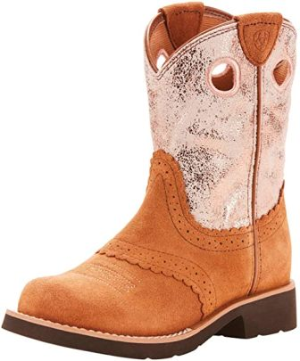 Ariat Cowgirl-Style Round Toe Profile Work Boots
