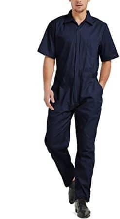 TOPTIE Men's Short-Sleeve Work Coverall