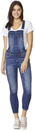 WallFlower Women's Juniors Plus-Size Skinny Overalls