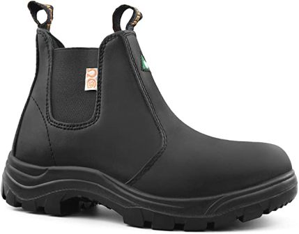 Tiger Safety Slip-on Work Boots for Women