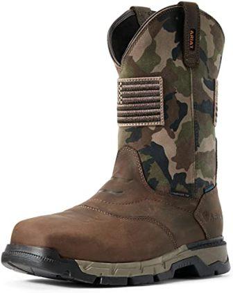 ARIAT Men's Rebar Flex Western Patriot H2O Work Boots