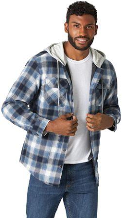 Wrangler Authentics Men's Quilted Flannel Shirt Jacket