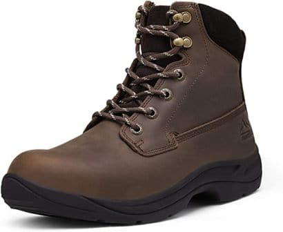 Nortiv 8 Men's Soft Toe Leather Work Boot